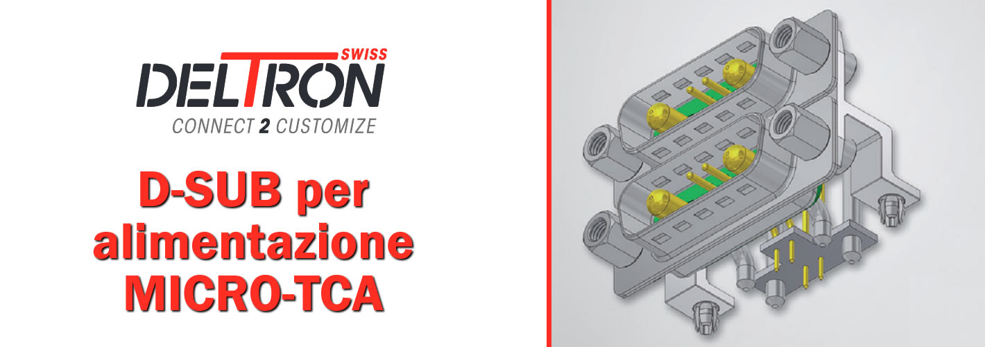 Immagine per Deltron introduce la nuova gamma di connettori D-Sub COMBI per MicroTCA