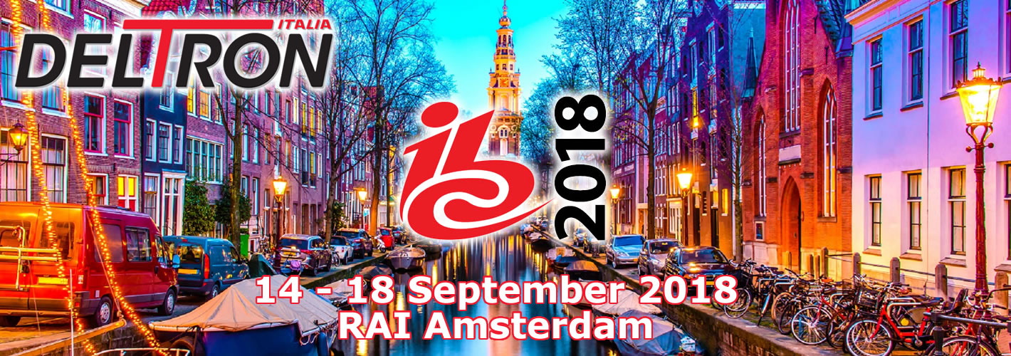 Immagine per Deltron Italia esporrà all'IBC2018 - International Broadcast conference and Exhibition in Amsterdam